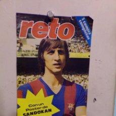 Coleccionismo deportivo: POSTER CRUYFF FUTBOL CLUB BARCELONA REVISTA RETO. Lote 240469460