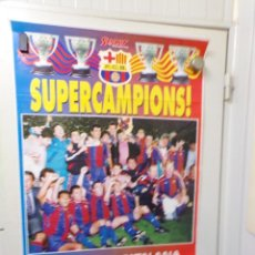 Coleccionismo deportivo: POSTER FUTBOL CLUB BARCELONA SPORT SUPERCAMPIONS BANCA CATALANA. Lote 240476925