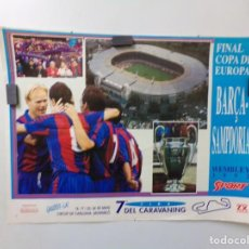 Coleccionismo deportivo: POSTER FUTBOL CLUB BARCELONA FINAL COPA DE EUROPA BARÇA-SAMPDORIA WEMBLEY 1992 SPORT. Lote 240860440
