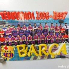 Coleccionismo deportivo: POSTER FUTBOL CLUB BARCELONA TEMPORADA 1996-1997 BARÇA. Lote 240928480