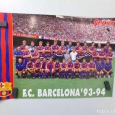 Coleccionismo deportivo: POSTER FUTBOL CLUB BARCELONA SPORT 1993-1994 93-94. Lote 241925875