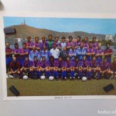 Coleccionismo deportivo: POSTER FUTBOL CLUB BARCELONA 1990-1991 90-91. Lote 241928000