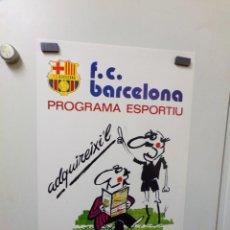 Coleccionismo deportivo: POSTER FUTBOL CLUB BARCELONA PROGRAMA ESPORTIU 1976. Lote 241980550