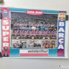 Coleccionismo deportivo: POSTER PAGINA PERIÓDICO FUTBOL CLUB BARCELONA SPORT WINTERTHUR. Lote 241988915