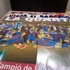 Coleccionismo deportivo: DEPORTES.....TRES POSTERS DEL FUTBOL CLUB BARCELONA... Lote 242076395