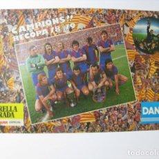 Coleccionismo deportivo: F C BARCELONA CAMPIONS RECOPA 78 79 BARÇA - POSTER CARTEL FUTBOL DANONE ESTRELLA DORADA DAMM RIFÉ. Lote 243463835
