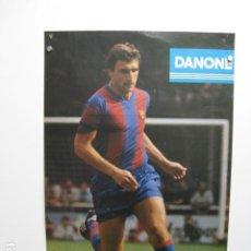 Coleccionismo deportivo: F C BARCELONA HANSI KRANKL - POSTER CARTEL BARÇA FUTBOL DANONE ESTRELLA DORADA DAMM JULIOL 79. Lote 243469335