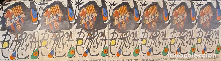 7 CARTELES ORIGINALES DEL 75 ANIVERSARIO. F.C BARCELONA. JOAN MIRÓ. 1974. (Coleccionismo Deportivo - Carteles de Fútbol)