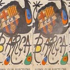 Coleccionismo deportivo: 7 CARTELES ORIGINALES DEL 75 ANIVERSARIO. F.C BARCELONA. JOAN MIRÓ. 1974.. Lote 243789030