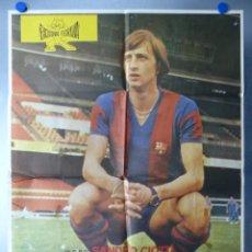 Coleccionismo deportivo: CARTEL EL PROFETA DEL GOL, JOHAN CRUYFF, F.C. BARCELONA - AÑO 1976. Lote 244001310