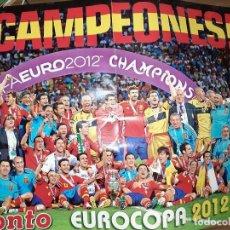 Coleccionismo deportivo: PÓSTER SELECCIÓN ESPAÑOLA UEFA EURO 2012 POLAND-UKRAINE, REVISTA PRONTO, EN BUEN ESTADO. Lote 244763580
