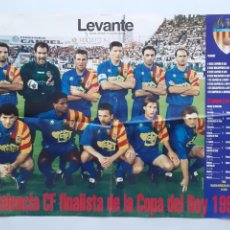 Coleccionismo deportivo: POSTER CARTEL VALENCIA CLUB FUTBOL FINALISTA COPA DEL REY 1995 RV. Lote 244979770