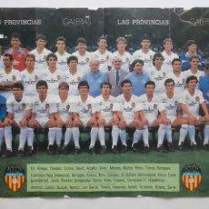Coleccionismo deportivo: POSTER CARTEL DOBLE VALENCIA CLUB FUTBOL ARTURO TUZON DI STEFANO RV. Lote 244981000