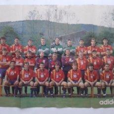 Coleccionismo deportivo: CARTEL SELECCION ESPAÑOLA FUTBOL CLEMENTE WORLD CUP USA 1994 REVERSO PUBLICIDAD MATERTIAL ADIDAS RV. Lote 244983060