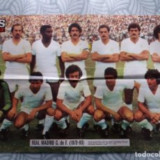 Collectionnisme sportif: POSTER REAL MADRID LIGA 79/80. AS COLOR.. Lote 245376170