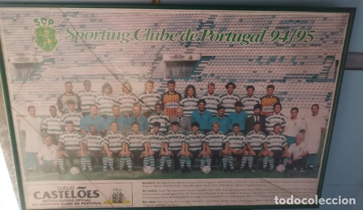 POSTER EMOLDURADO DO SPORTING CLUB DE PORTUGAL SCP 1994/95 (Coleccionismo Deportivo - Carteles de Fútbol)