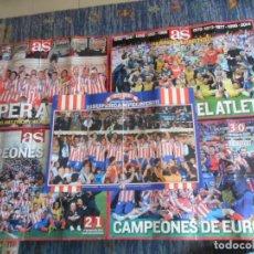 Coleccionismo deportivo: 5 CARTEL MARCA AS PÓSTER TÍTULO CAMPEÓN ATLETICO DE MADRID LIGA, COPA, EUROPA LEAGUE, SUPER COPA. Lote 246142355