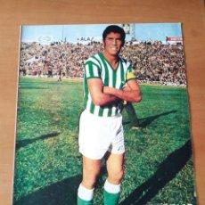 Coleccionismo deportivo: PÓSTER DE ROGELIO DEL REAL BETIS BALOMPIÉ DE LOS AÑOS 70. Lote 248698330