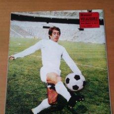 Coleccionismo deportivo: PÓSTER DE MANUEL VELÁZQUEZ DEL REAL MADRID CLUB DE FÚTBOL DE LOS AÑOS 70. Lote 248698520