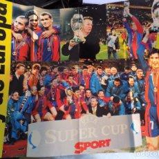 Colecionismo desportivo: POSTER -FC.BARCELONA- CAMPEONES SUPERCOPA 97-98. Lote 249201430