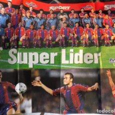 Colecionismo desportivo: POSTER -FC.BARCELONA- SUPERLIDER. Lote 249203410