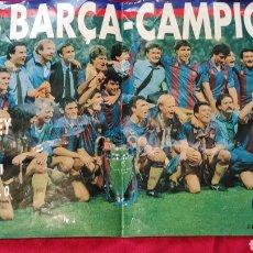 Coleccionismo deportivo: POSTER F C BARCELONA. WEMBLEY 92. Lote 249460975