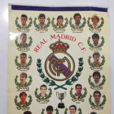Coleccionismo deportivo: POSTER CARTEL LAMINA REAL MADRID 93 94 1993 1994 30 X 42 CM DUBOVSKY,BUTRAGUEÑO,LUIS ENRIQUE,TORIL. Lote 249561190