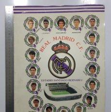 Coleccionismo deportivo: POSTER CARTEL LAMINA REAL MADRID 91 92 1991 1992 32 X 45 CM HUGO SANCHEZ,HAGI,BUTRAGUEÑO,GORDILLO. Lote 249562075