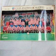 Collezionismo sportivo: POSTER ATLETICO DE MADRID TEMPORADA 1980/81 CON FIRMAS PREIMPRESAS. ESTÁ SOBRE UN CARTON.. Lote 251581835