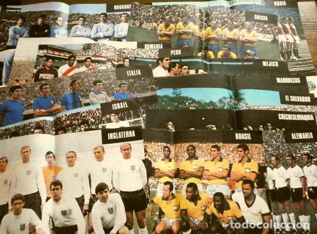 MUNDIAL DE FUTBOL MEXICO 70 - COLECCION COMPLETA POSTERS 16 SELECCIONES PARTICIPANTES (1970) DIFÍCIL (Coleccionismo Deportivo - Carteles de Fútbol)