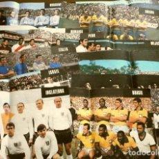 Coleccionismo deportivo: MUNDIAL DE FUTBOL MEXICO 70 - COLECCION COMPLETA POSTERS 16 SELECCIONES PARTICIPANTES (1970) DIFÍCIL. Lote 251868275