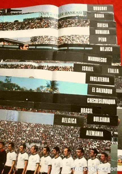 Coleccionismo deportivo: Mundial de Futbol MEXICO 70 - Coleccion Completa Posters 16 Selecciones Participantes (1970) Difícil - Foto 2 - 251868275