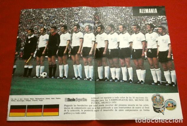 Coleccionismo deportivo: Mundial de Futbol MEXICO 70 - Coleccion Completa Posters 16 Selecciones Participantes (1970) Difícil - Foto 3 - 251868275