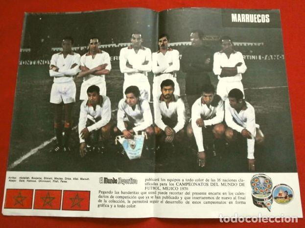 Coleccionismo deportivo: Mundial de Futbol MEXICO 70 - Coleccion Completa Posters 16 Selecciones Participantes (1970) Difícil - Foto 4 - 251868275