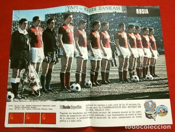Coleccionismo deportivo: Mundial de Futbol MEXICO 70 - Coleccion Completa Posters 16 Selecciones Participantes (1970) Difícil - Foto 5 - 251868275