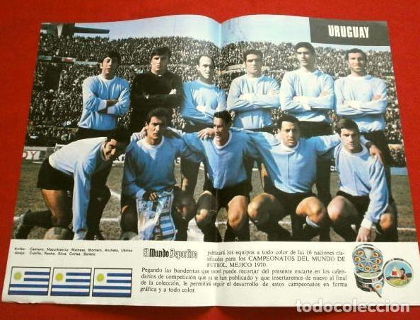 Coleccionismo deportivo: Mundial de Futbol MEXICO 70 - Coleccion Completa Posters 16 Selecciones Participantes (1970) Difícil - Foto 6 - 251868275
