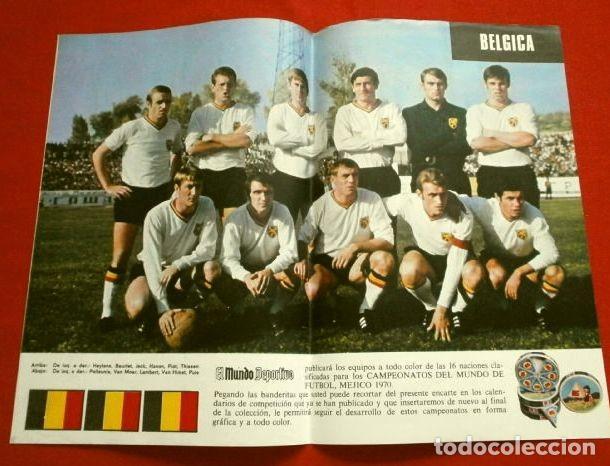 Coleccionismo deportivo: Mundial de Futbol MEXICO 70 - Coleccion Completa Posters 16 Selecciones Participantes (1970) Difícil - Foto 7 - 251868275