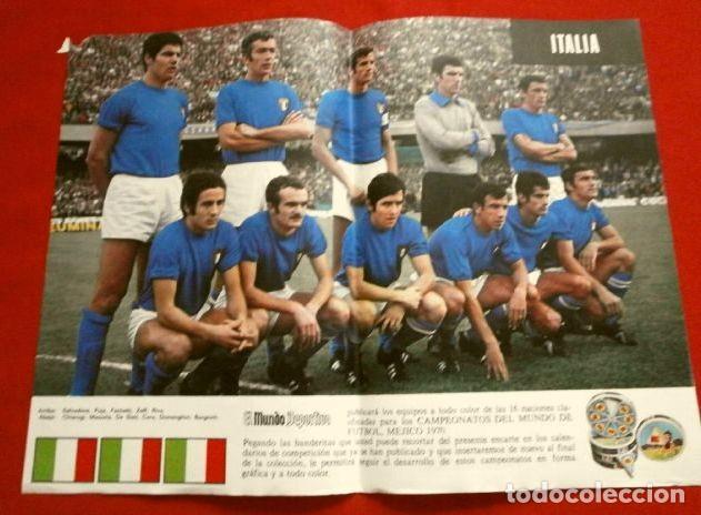 Coleccionismo deportivo: Mundial de Futbol MEXICO 70 - Coleccion Completa Posters 16 Selecciones Participantes (1970) Difícil - Foto 8 - 251868275