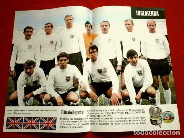 Coleccionismo deportivo: Mundial de Futbol MEXICO 70 - Coleccion Completa Posters 16 Selecciones Participantes (1970) Difícil - Foto 9 - 251868275