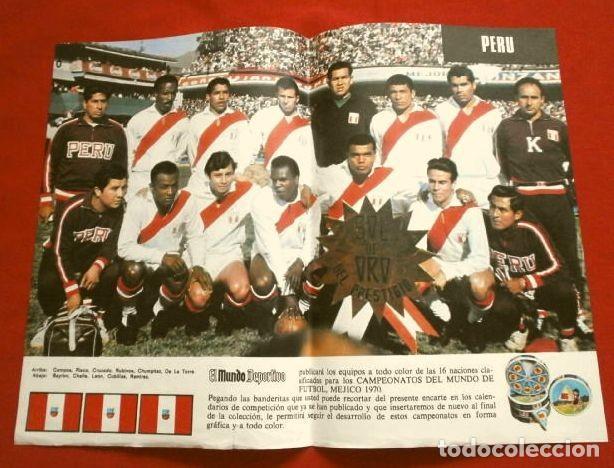 Coleccionismo deportivo: Mundial de Futbol MEXICO 70 - Coleccion Completa Posters 16 Selecciones Participantes (1970) Difícil - Foto 11 - 251868275
