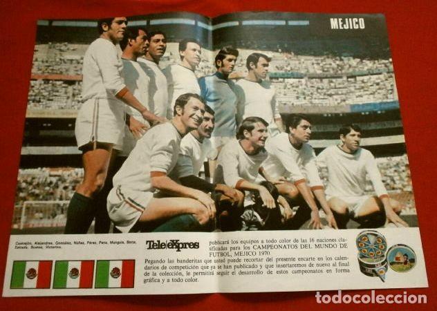 Coleccionismo deportivo: Mundial de Futbol MEXICO 70 - Coleccion Completa Posters 16 Selecciones Participantes (1970) Difícil - Foto 12 - 251868275