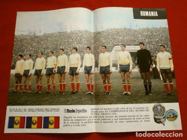 Coleccionismo deportivo: Mundial de Futbol MEXICO 70 - Coleccion Completa Posters 16 Selecciones Participantes (1970) Difícil - Foto 14 - 251868275
