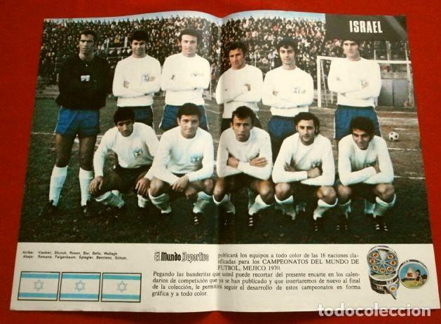 Coleccionismo deportivo: Mundial de Futbol MEXICO 70 - Coleccion Completa Posters 16 Selecciones Participantes (1970) Difícil - Foto 15 - 251868275