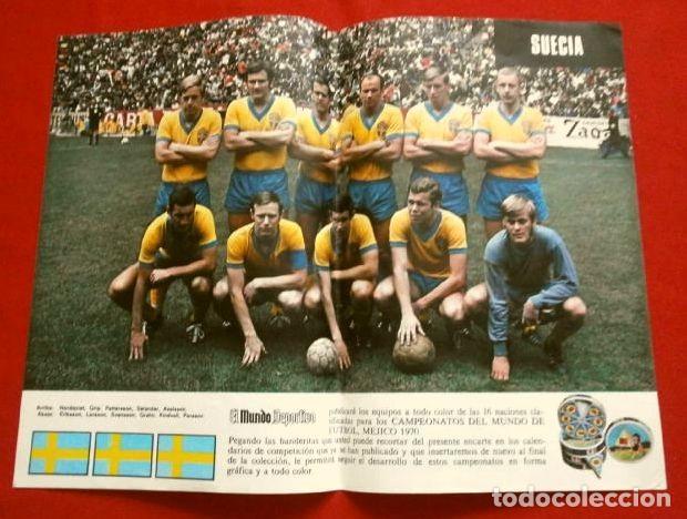 Coleccionismo deportivo: Mundial de Futbol MEXICO 70 - Coleccion Completa Posters 16 Selecciones Participantes (1970) Difícil - Foto 16 - 251868275