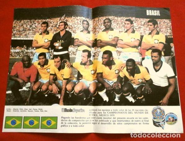 Coleccionismo deportivo: Mundial de Futbol MEXICO 70 - Coleccion Completa Posters 16 Selecciones Participantes (1970) Difícil - Foto 17 - 251868275