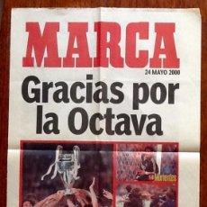 Coleccionismo deportivo: CARTEL DEL REAL MADRID EL REY DE EUROPA 2000 - PERIODICO MARCA . - ENVIO INCLUIDO.. Lote 254051565