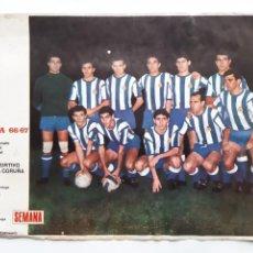 Collezionismo sportivo: ANTIGUO POSTER LIGA 1966 1967 DEPORTIVO LA CORUÑA CARTEL FUTBOL PORTADAS REVISTA SEMANA RV. Lote 254490715