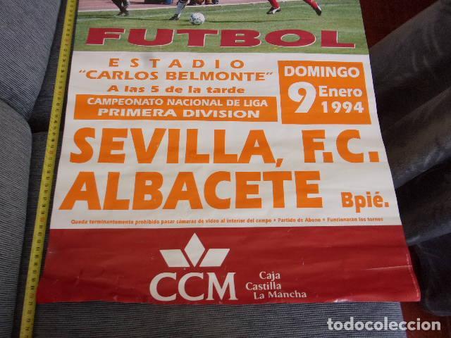 Coleccionismo deportivo: albacete Bpie-sevilla futbol 1 division,año 1994 - Foto 3 - 255410980