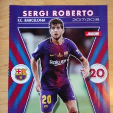 Coleccionismo deportivo: POSTER JUGON FOLIO SERGI ROBERTO BARCELONA SARABIA SEVILLA 2017 18 (ENVIO SOBRE CARTON). Lote 255602260