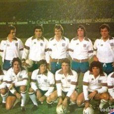 Coleccionismo deportivo: SELECCIÓN DE FÚTBOL DE INGLATERRA: GRAN RECORTE DE UN EQUIPO DE 1981. Lote 255977105